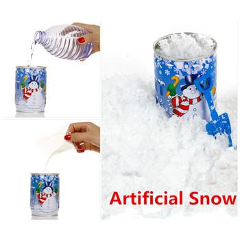 Puszki śnieg w proszku sztuczny śnieg płatki fałszywy magiczny śnieg festiwal Party Decor na boże narodzenie sztuczne na ślub sztuczny śnieg dziecko grać L * 5 tanie i dobre opinie Proszku śniegu Cans Snow Powder