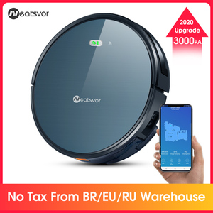 NEATSVOR X500 Robot Vacuum Cleaner 3000PA Poweful Suction 3in1 pet hair home dry wet mopping cleaning robot Auto Charge vacuum(China)