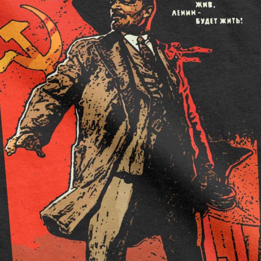 Lenin Vivere Per Sempre T-Shirt Degli Uomini Il Comunismo Marxismo il Socialismo Tshirt Premium Cotone T Shirt Manica Corta Magliette Abbigliamento Unico