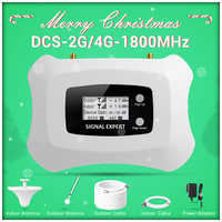 Przytulne i modne regenerator sygnału 2G 4G wzmacniacz telefonu komórkowego LCD DCS 1800MHz wzmacniacz sygnału komórkowego z zestawem antena yagi