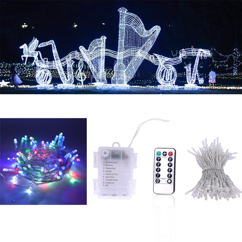 Waterproof Battery Box Led String Light 8modes Remote Control Timer Christmas Party Lighting 3M 5M10M Battery Led Fairy Light