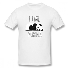 2019 funny tee cute t shirts I Hate Mornings Panda men short sleeves cotton tops cool shirt summer Mens T-Shirt