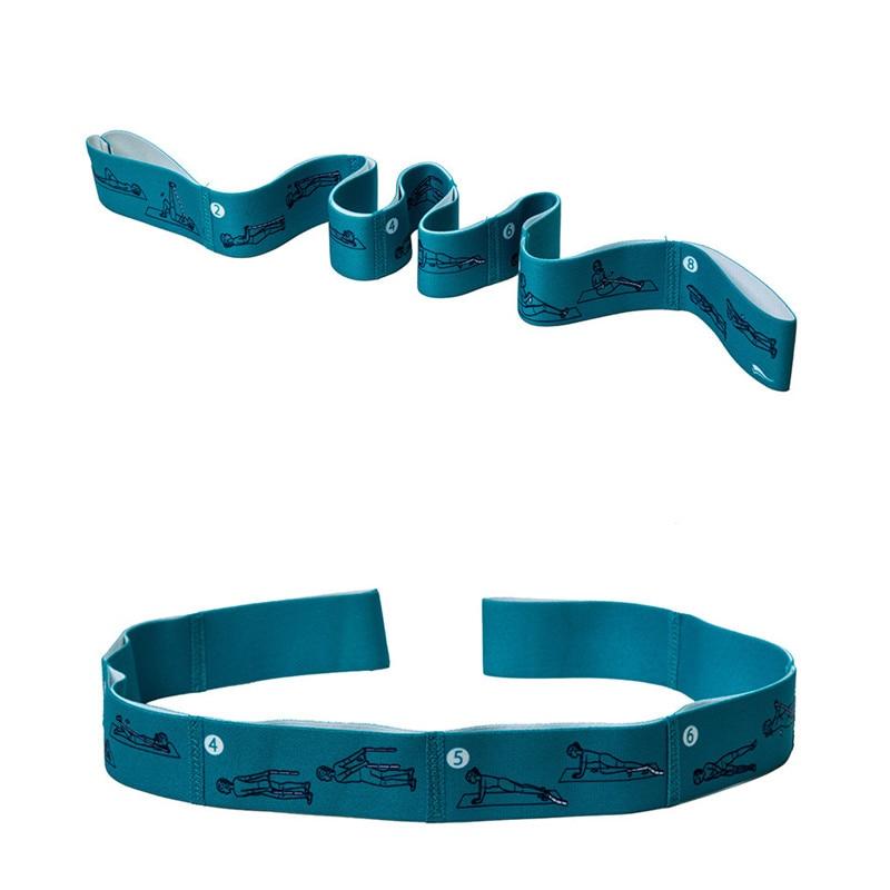Yoga Stretch Strap Elastic Yoga Belt Fitness Exercise Gym Pilates Waist Leg Resistance Bands