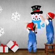 DIY Weihnachten Geschenke Schneemann Weihnachten Aufkleber Wand Hängen Kinder Kind Spielzeug Weihnachten Weihnachten Dekoration Liefert