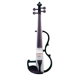 Electric Violin Headphone Solid-Wood W/bow-Case Silent Rosin NAOMI Cable New-Set Full-Size