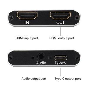 Image 4 - USB 3.0 التقاط الفيديو HDMI إلى USB نوع C 1080P بطاقة فيديو عالية الدقة ل PS4 PC لعبة بث مباشر