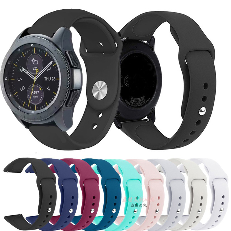 22mm/20mm Band For Samsung Gear S3 Frontier Galaxy Watch 46mm 42mm S2 Classic Active 2 40mm 44mm Strap Sport Silicone Bracelet