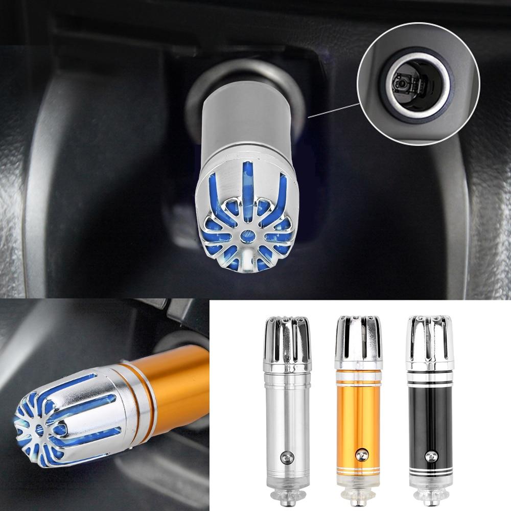 12V Oxygen Bar Ozone Ionizer Cleaner Car Air Freshener Auto Fresh Air Ionic Purifier Mini Car Air Purifier