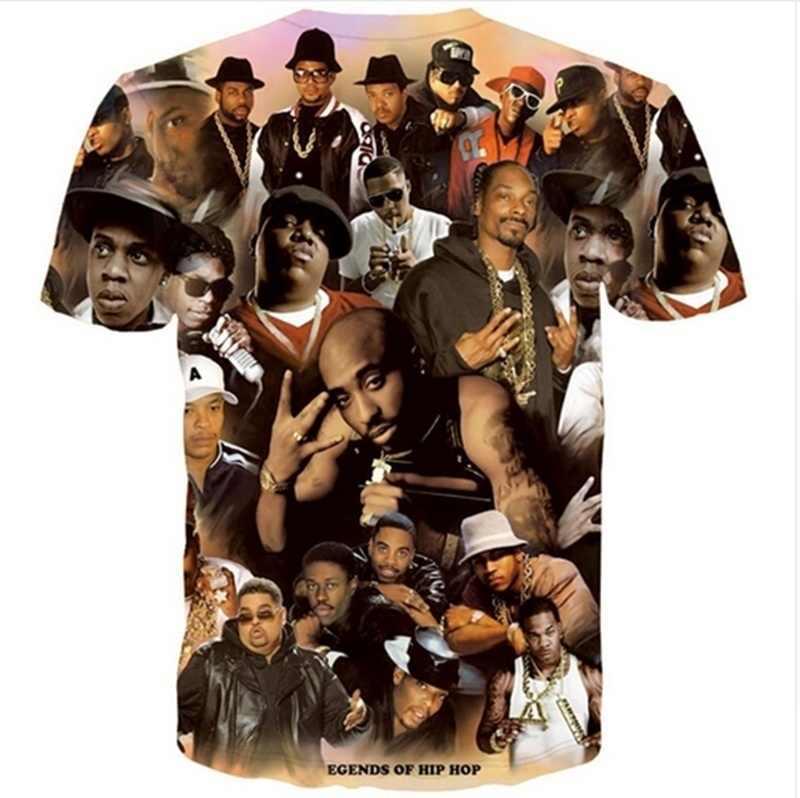 2016 yeni kadın erkek moda 3D t shirt Tupac Shakur 2Pac t-shirt hip hop Rap tees camisetas gömlek tops artı boyutu ZZC