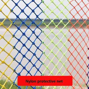 Cuerda de red de seguridad de nailon para construcción, valla para exterior, cancha de fútbol de poliéster, colorido para casa, balcón, escaleras, redes protectoras para niños
