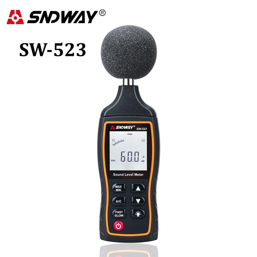 SNDWAY skaitmeninis garso lygio matuoklis decibelais Stebėjimo testeris Triukšmo tūris matuojantis prietaiso foninio apšvietimo triukšmo garso detektorius