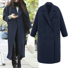 KANCOOLD coats Womens Winter Lapel Wool Trench Jacket Long Overcoat Outwear Button fashion new coats and jackets women 2019Sep27(China)