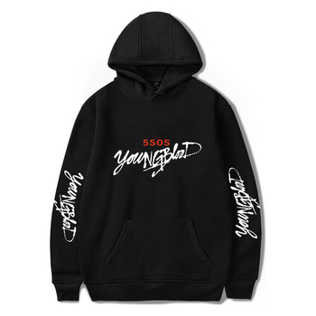Men And Women Youngblood Hoodie Casual Pullover Streetwear Fashion Hip hop Sudadera Hombre female 5sos
