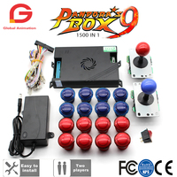 Original Pandora Box 9 1500 Games Set DIY Arcade Kit Push Button Joystick For Arcade Machine Bundle Home Cabinet with manual