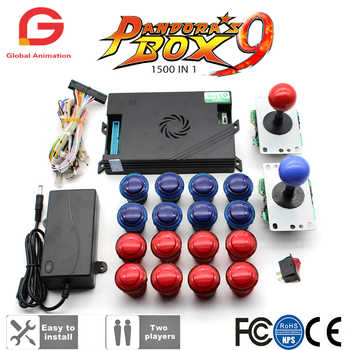 Original Pandora Box 9 1500 Games Set DIY Arcade Kit Push Button Joystick For Arcade Machine Bundle Home Cabinet with manual - DISCOUNT ITEM  7 OFF Sports & Entertainment