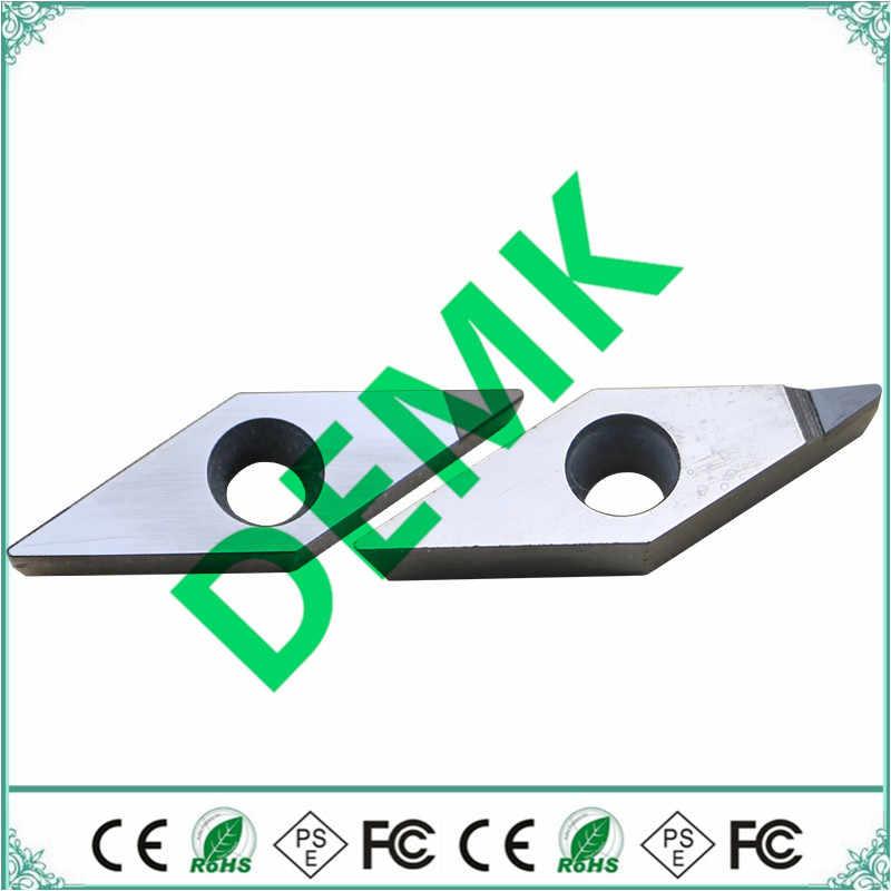 2 יח'\סט VCGT110302 VCGT110304 VCGT160402 VCGT160404 PCD יהלומי CBN מוסיף להב פנימי הפיכת כלי מחרטת כלי עבור מפעל