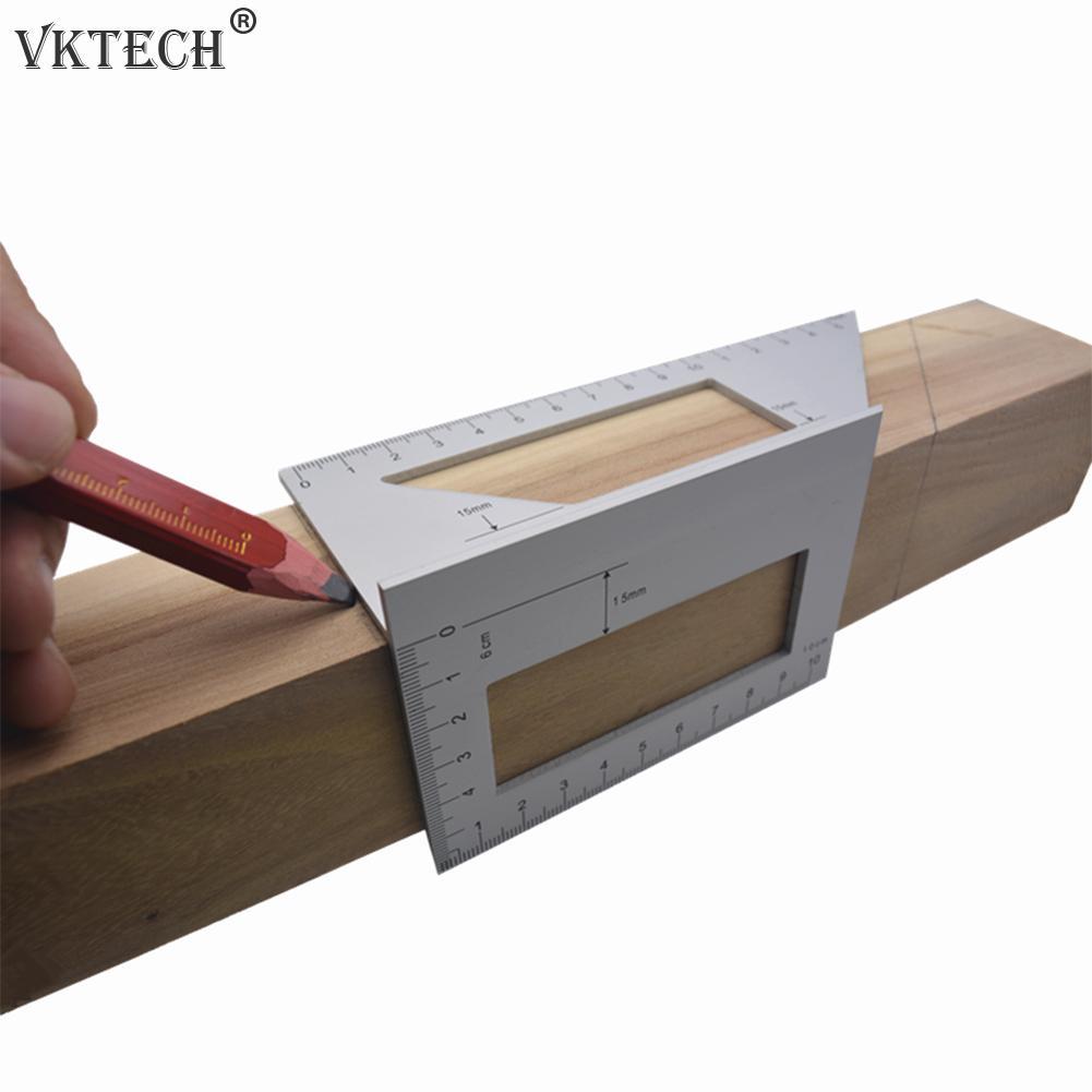 45/90 학위 직각 눈금자 알루미늄 합금 눈금자 목공 측정 눈금자 목공 도구 각도기