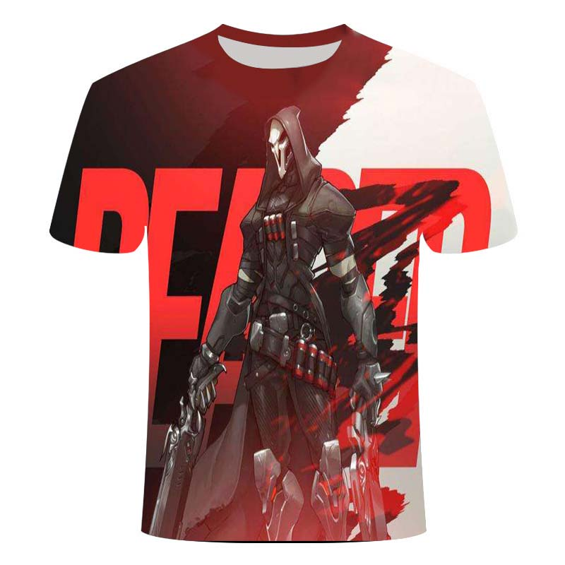2021Overwatch Game Logo Gamer Gaming Tshirt 3D Over Short-Sleeve T Shirts Gaming Top Blizzard Overwatch Video Game Characters