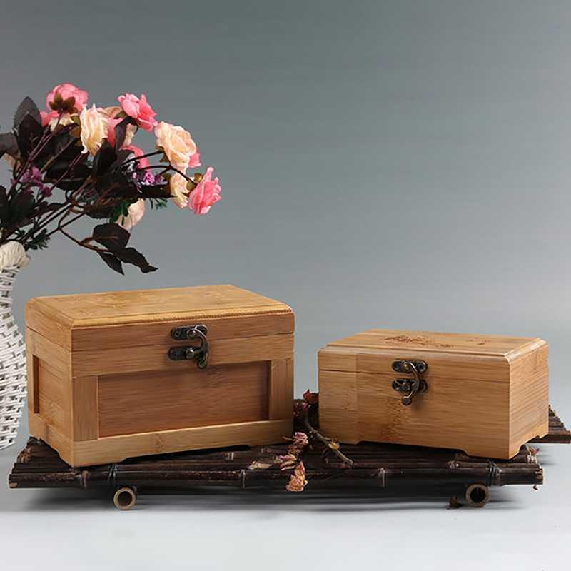 Bambusowe rzemiosło księżniczka koreański bambusowy pudełko z biżuterią drewniana biżuteria do przechowywania kolekcja pudełek pudełko pudełko
