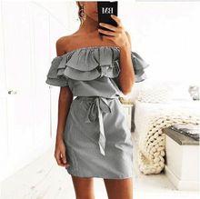 Sexy Dress Boho Summer Clothes for Women Bodycon Short Sleeve Feminino Ruffle Lace Up Mini Vestidos
