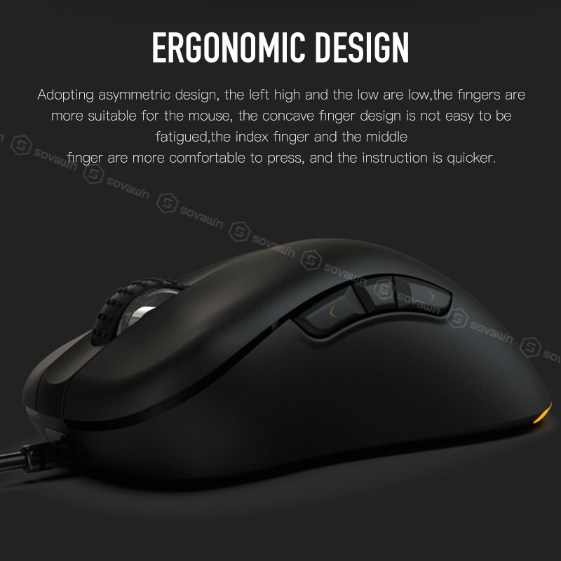 Lefthigh 1600 DPI USB Wired Optical Gaming Mice Mouse