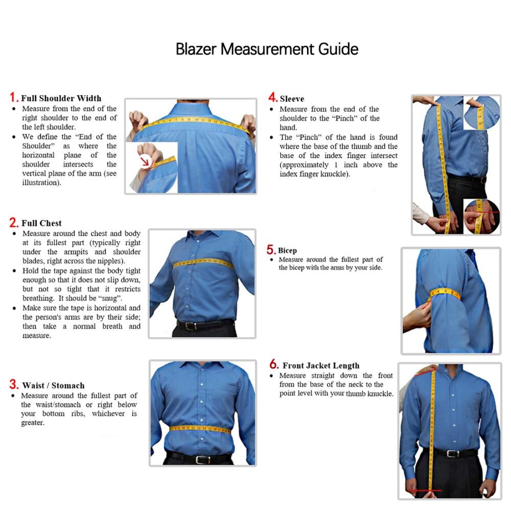 men`s Blazer measurement
