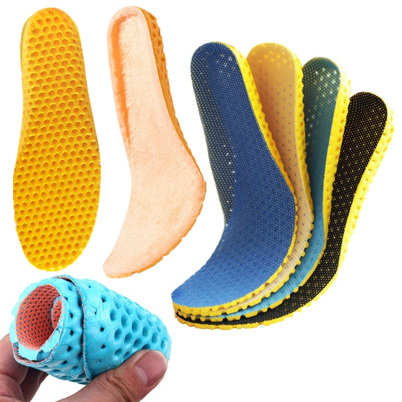 Unisex Stretch Breathable Deodorant Running Cushion Insoles Shoes Sole Orthopedic Pad Winter Warm Insole Outdoor Hiking Camping