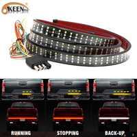 "OKEEN 60"" 432 LED Truck Tailgate LED Strip Light Bar Reverse Brake Stop Turn Signal Light For Chevy Ford Dodge Pick Up Tail Lamp"