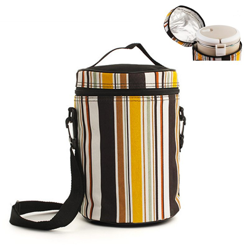 Cooler Bag Thermal Insulated Stripe Cooler Bag Outdoor Extra Large Picnic Lunch Box BBQ Pack Accessories