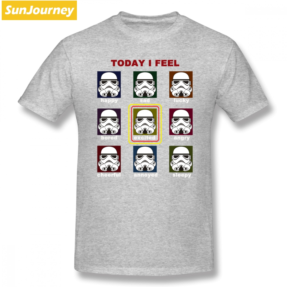 Stormtrooper Mood Chart Star Wars T Shirt Custom Short Sleeve Brand clothing Top Couples Oversize Cotton Funny T Shirts in T Shirts from Men 39 s Clothing