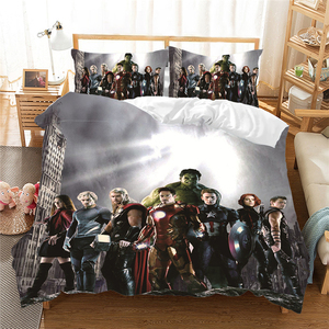 Cartoon 3D Captain America Bed