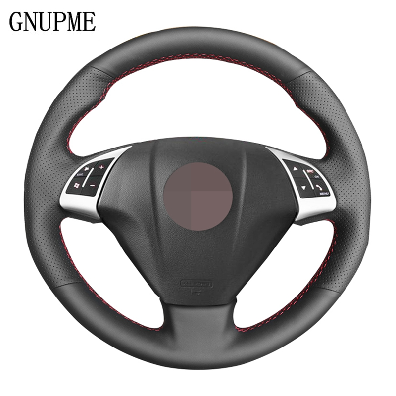 Steering-Wheel-Cover Artificial-Leather Doblo Bravo Fiat for DIY Car Black Combo Hand-Stitched
