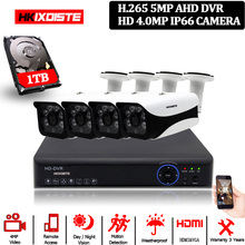 Hkixdispe HD HDMI DVR 4MP HD داخلي في الهواء الطلق كاميرا مراقبة للمنزل نظام 4CH CCTV فيديو مراقبة DVR عدة 4.0MP كاميرا ahd مجموعة