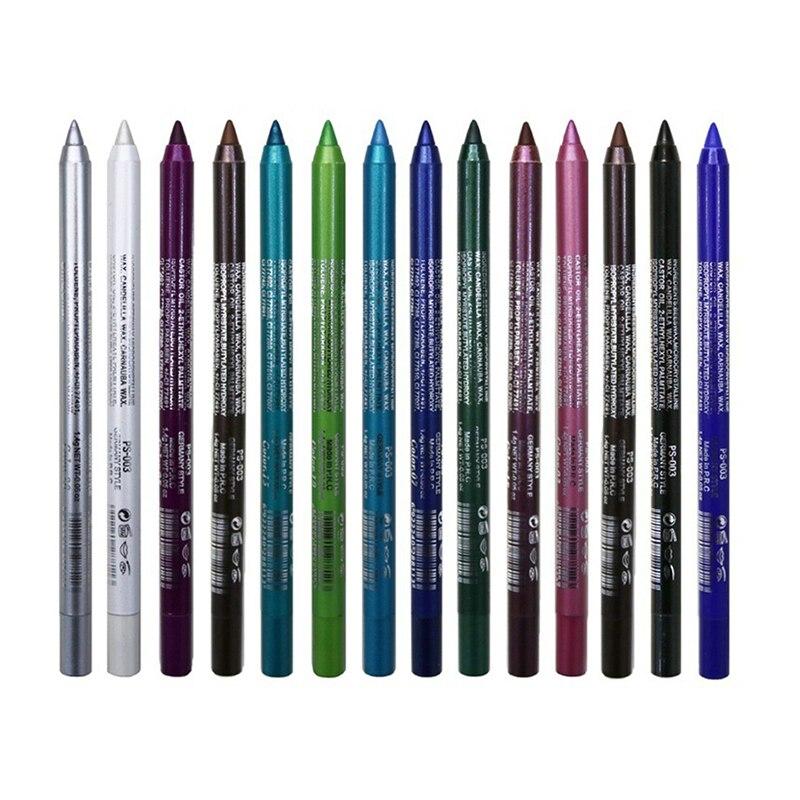 1 Pc Long-lasting Eyeliner Pencil Waterproof 14 Colors Eyeliner Eyeshadow Pen Cosmetic Makeup Tools Dropshipping TSLM2