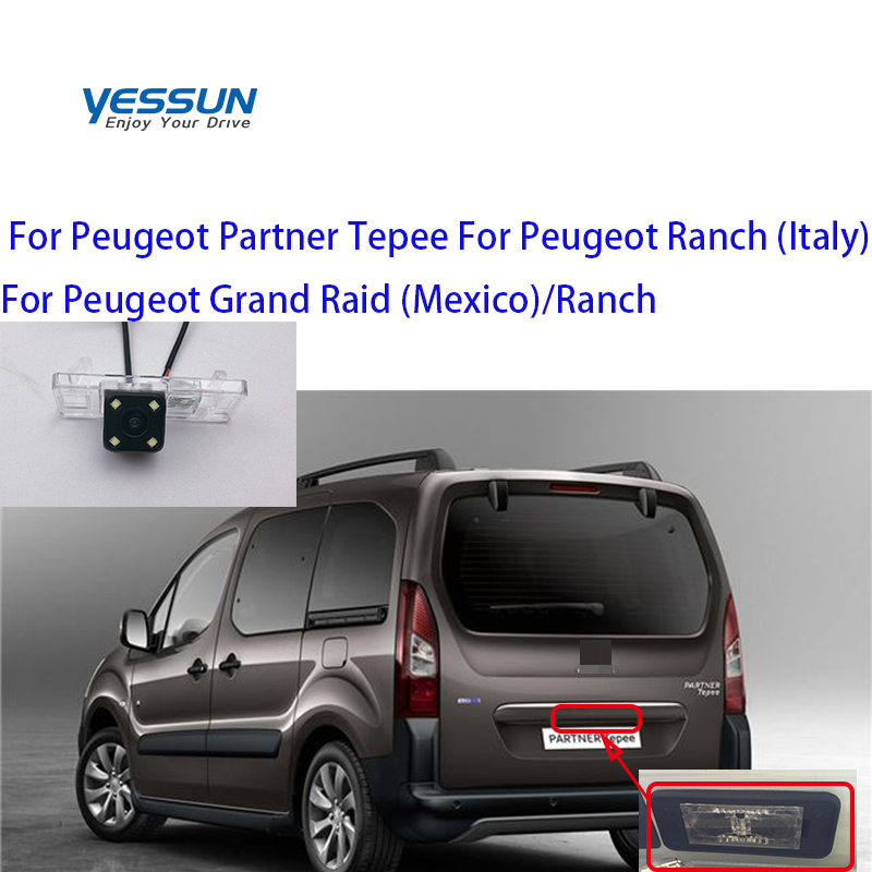 Yessun Auto Car Accessories License Plate Camera Car Rear View Reverse Backup Camera Waterproof For Peugeot Partner Tepee Grand