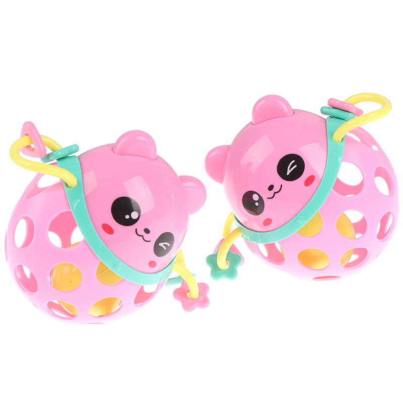 1pc 0-12 Months Plastic Baby Rattles Toy Intelligence Grasping Gums Animal Hand Shake Toys Early Educational Gift For Newborns