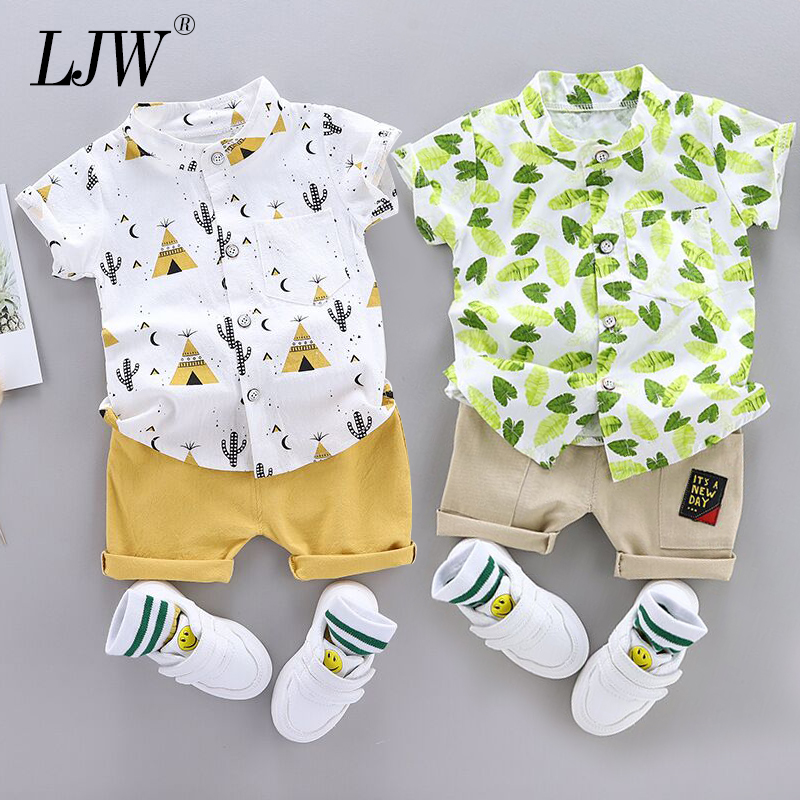 Baby Suit Summer Fashion Kids Baby Clothing Set For Boys Cute Casual Clothes Set Printing Top Shorts Infant Suits Kids Clothes