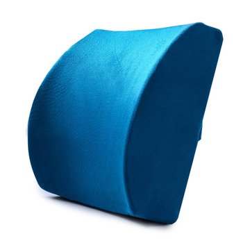 Memory Foam Lumbar Back Pillow Support Back Cushion Home Office Car Seat Chair Back Massager Waist Cushion memory foam lumbar cushion premium lumbar support gel chair soft back cushion random color