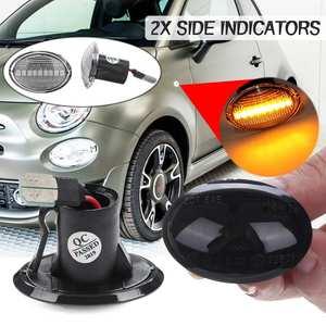 2x Dynamic LED Side Marker Lights Flowing Turn Signal Light Side Repeater Lamp Blinker for Fiat 500 for Lancia Lybra Ypsilon