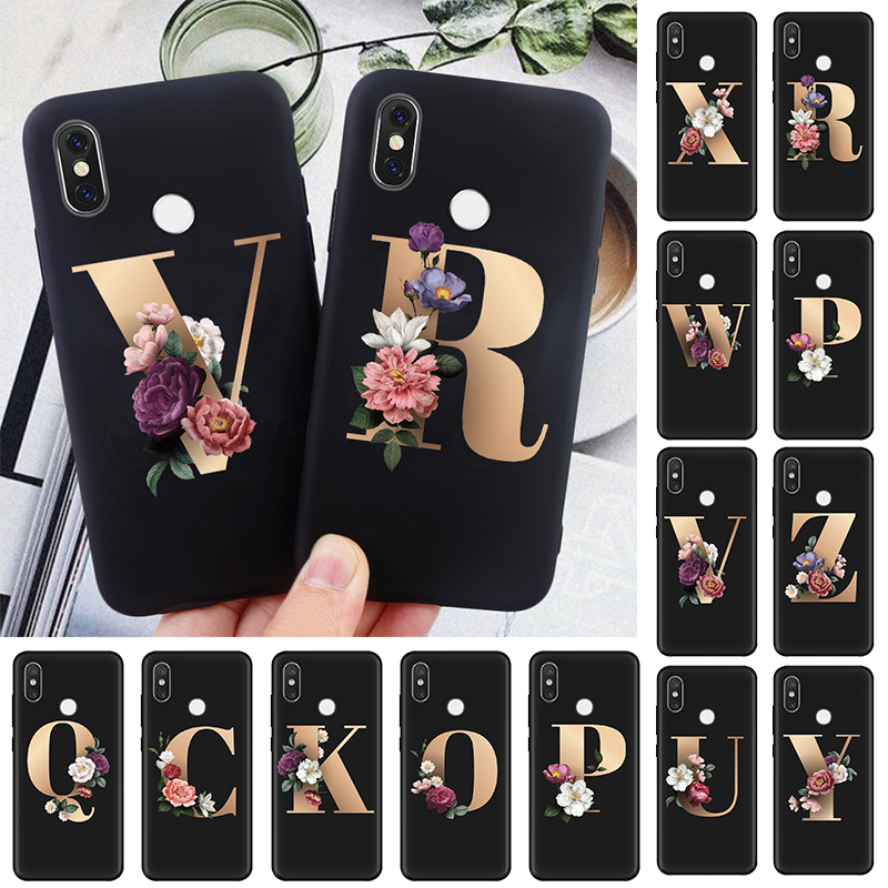 Soft TPU Flowers Letter Couples Case For Xiaomi Redmi Note 8 Pro 7 6 5 K20 Pro 8T 5A 4X K30 S2 8A 7A Mi A2 A1 5X 6X Coque Fundas