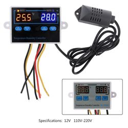 Digital Thermostat Humidity Controller Egg Incubator 10A Direct Output Hygrometer Control 12VDC 110~220VAC