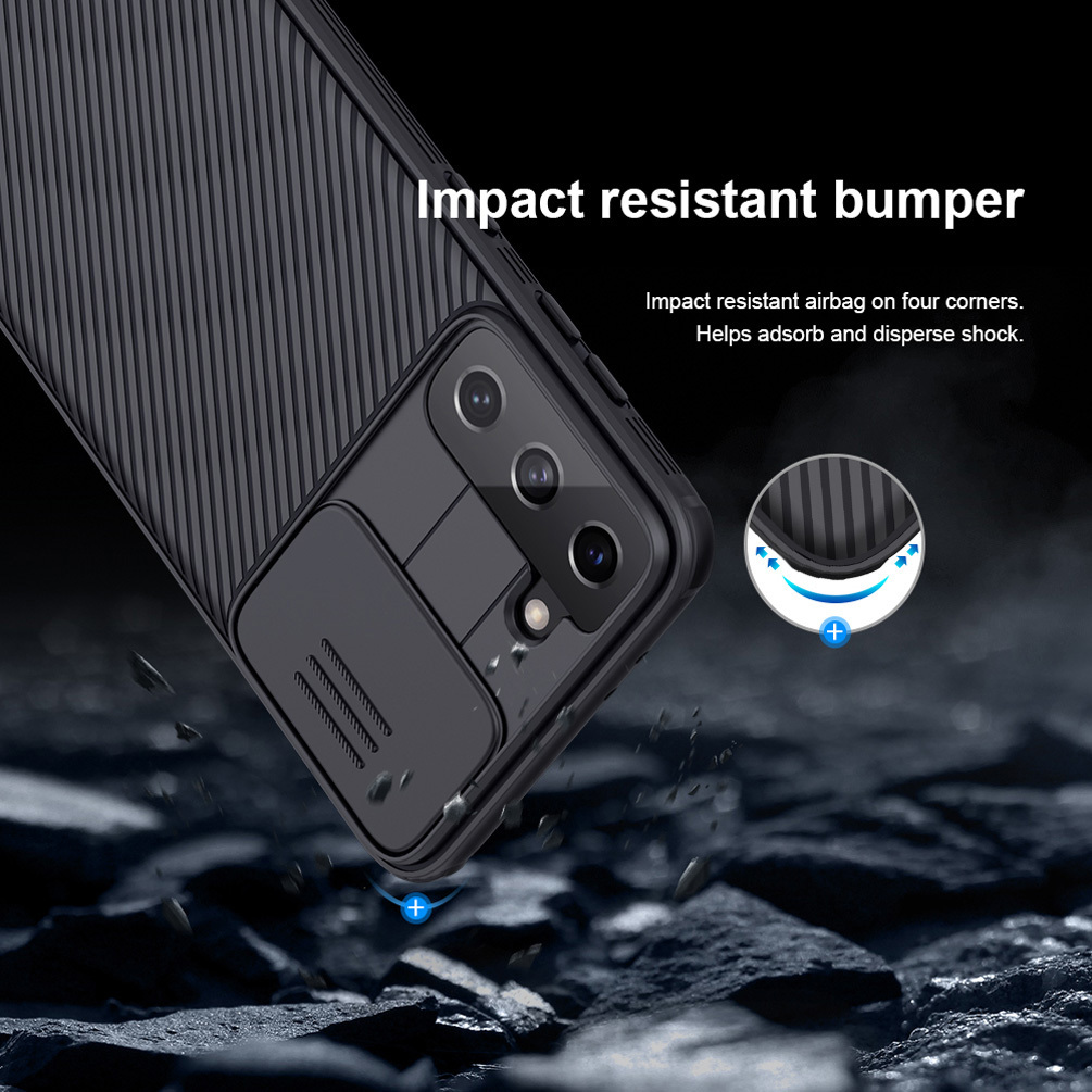 For Samsung Galaxy S21+ Plus S21 Ultra Camera Protection Case NILLKIN Slide Protect Cover Lens Protection Case For Samsung S21