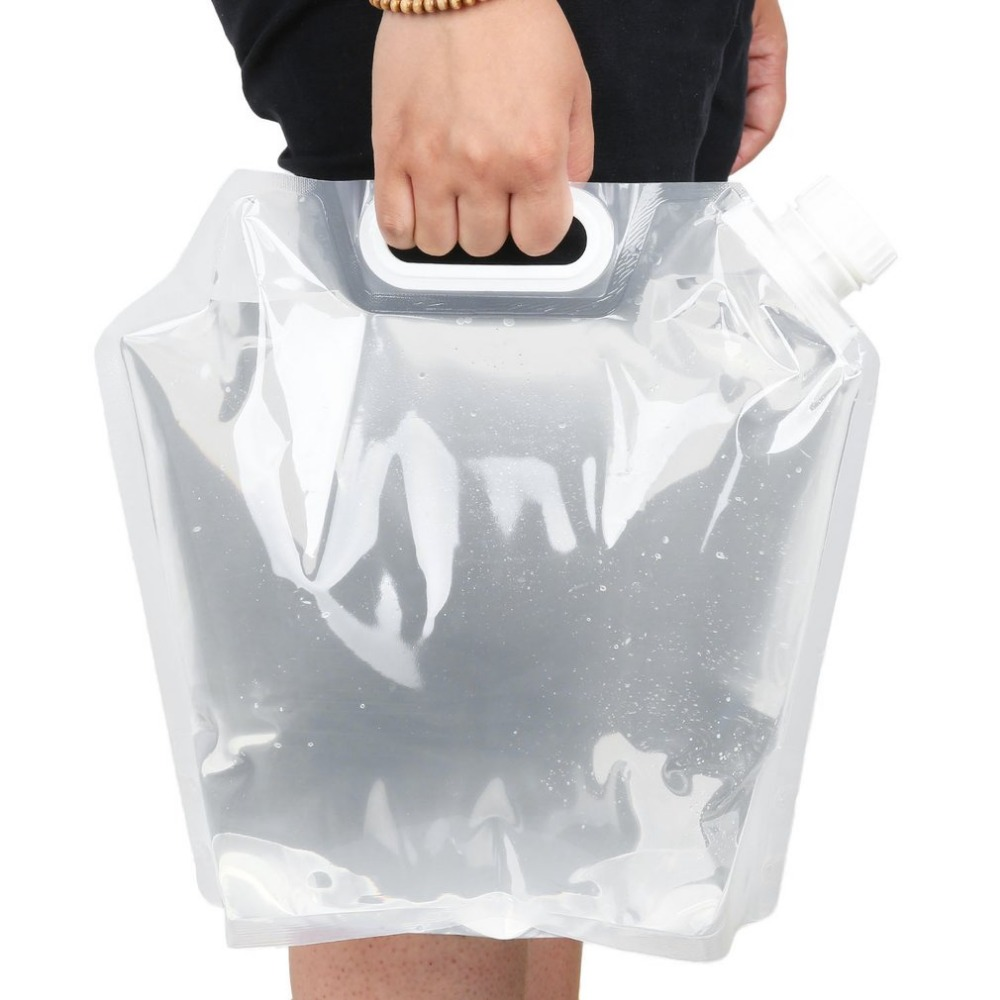 5l protable 접이식 물 저장 가방 비상 액체 저장 물 가방 캠핑 접을 수있는 액체 컨테이너 드롭 배송