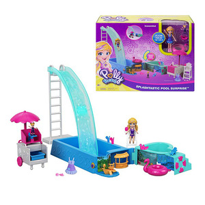 Image 5 - Original Mattel Polly Tasche Mädchen Haus Puppen Große Millionen Welt Schatz Box Luxus Auto Reise Anzug Mädchen Spielzeug Große Tasche welt