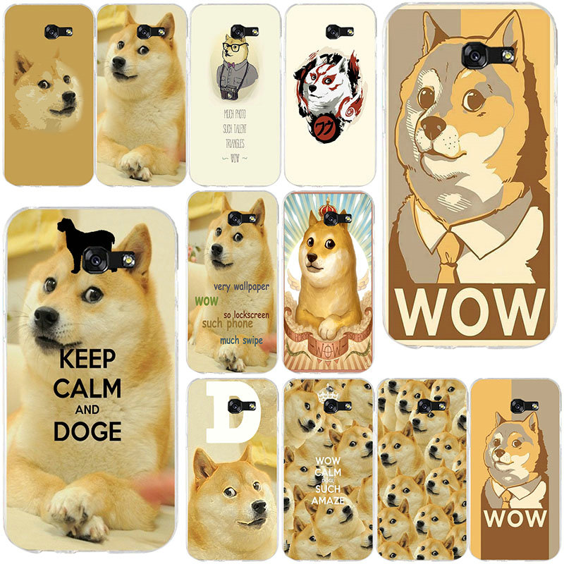Fashion Beautiful Doge MEME Soft Silicon TPU Cell Phone Case For Samsung Galaxy A3 A5 J1 J2 J3 J5 2015 2016 2017 Cover Coque image