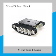 Châssis de voiture Robot réservoir Rc en métal TS100, avec système de Suspension, chenille chenille pour Arduino, jouet de bricolage