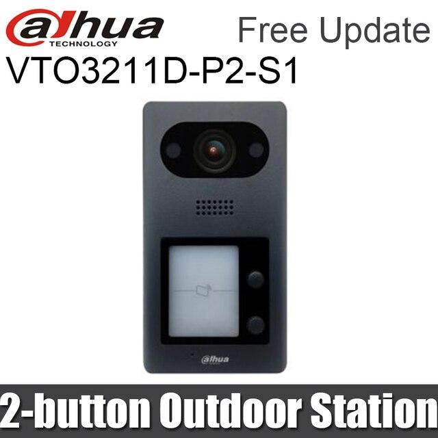 Dahua VTO3211D P2 S1 IP 2 düğmeli Villa açık istasyonu görüntülü interkom dahili hoparlör gece görüş değiştirin vto3211D P2