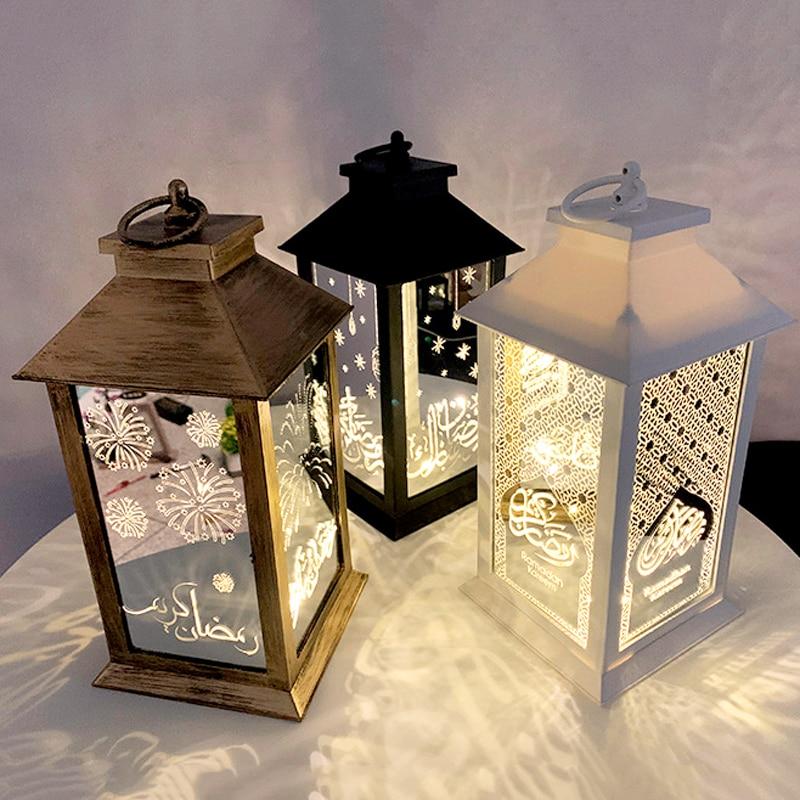 Nuevo decoraciones Ramadán luz LED linterna para eventos para el hogar musulmán islámico fiesta suministros linterna colgante decorativo Eid Al Adha