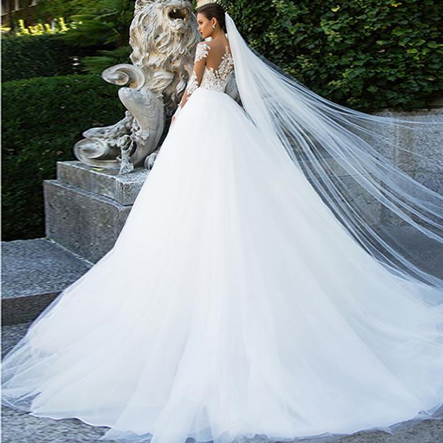 Long Sleeve Wedding Dress 6