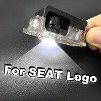 Led para logotipo de porta de carro  luz de led para seat exeo emblema para porta de carro  lâmpada de cortesia 12 acessórios automotivos v
